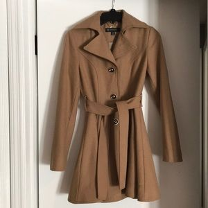 INC Fit and Flare Peacoat: XS